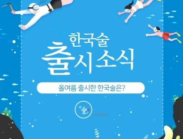 신상술 소식! 올여름에 출시된 한국술은?