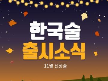 더술닷컴 한국술 출시소식 – 11월 신상술