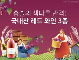 홈술의 색다른 반격! 국내산 레드 와인 3종