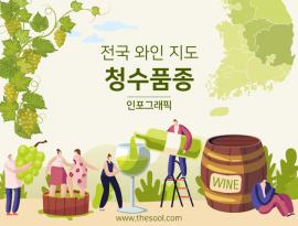 """인포그래픽:: 전국 와인 지도 """"청수 품종"""""""